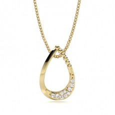 Round Yellow Gold Designer Pendants