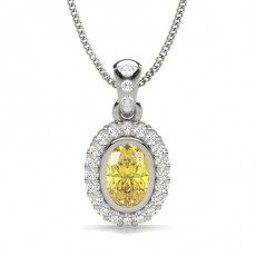 Oval Diamond Pendants