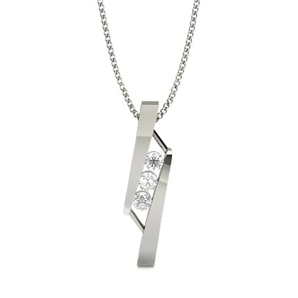 Buy Bar Setting Round Diamond Designer Pendant Online Uk