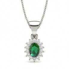 Prong Setting Emerald Solitaire Pendant