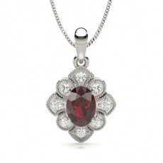 Prong Setting Ruby Designer Pendant