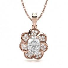 Oval Rose Gold Designer Pendants
