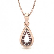 Round Rose Gold Gemstone Pendants