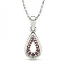 Round Platinum Gemstone Pendants