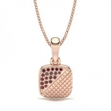Round Rose Gold Gemstone Pendants