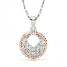 Round Rose Gold Designer Pendants