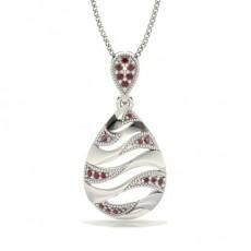 Round Platinum Gemstone Pendants