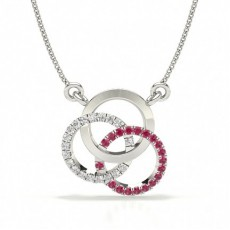 Ruby Prong Setting Circle Pendant