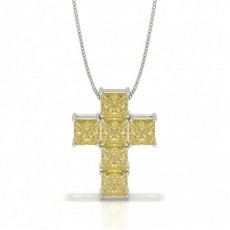 Princess Platinum Cross Pendants