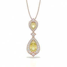 Pear Rose Gold Pendants