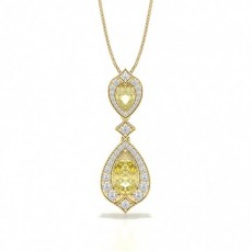 Pear Yellow Gold Designer Pendants