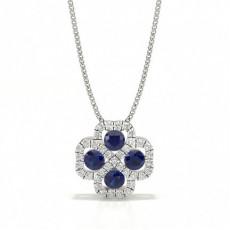 Round Sapphire Pendants