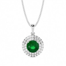 Platinum Emerald Pendants
