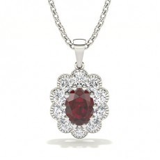 White Gold Ruby Pendants