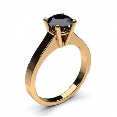 Rose Gold Black Diamond Engagement Rings