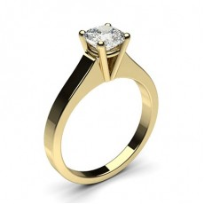 Cushion Yellow Gold Diamond Rings