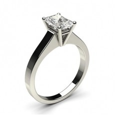 Radiant White Gold Classic Solitaire Engagement Rings