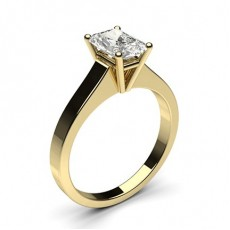 Radiant Yellow Gold Solitaire Diamond Engagement Rings
