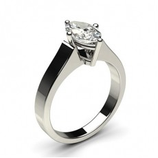 Marquise Platinum Solitaire Engagement Rings