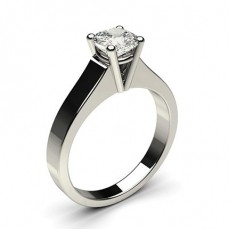 Cushion White Gold Solitaire Engagement Rings