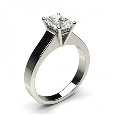 Radiant Platinum Solitaire Engagement Rings