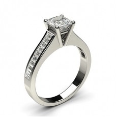 Asscher Platinum Diamond Rings