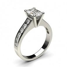 Emerald Side Stone Diamond Rings