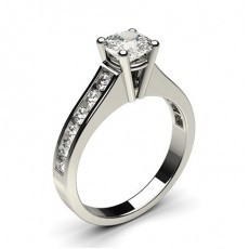 Cushion Platinum Side Stone Diamond Rings