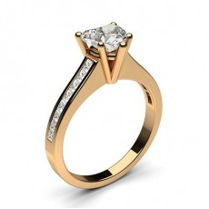 Heart Rose Gold Diamond Rings