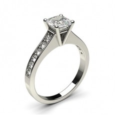 Asscher White Gold Engagement Rings