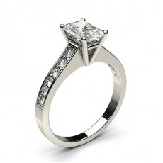Radiant Platinum Diamond Engagement Rings
