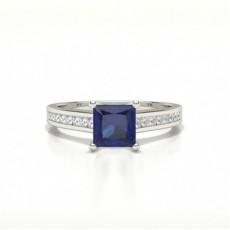 Princess Sapphire Rings