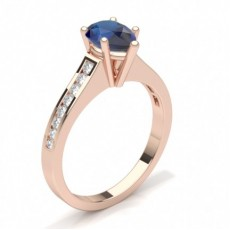 Pear Rose Gold Gemstone Diamond Rings