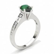 Pear White Gold Gemstone Diamond Rings