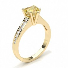 Heart Yellow Gold Yellow Diamond Rings