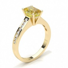 Radiant Yellow Gold Yellow Diamond Engagement Engagement Rings
