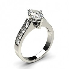 Marquise White Gold Side Stone Diamond Rings