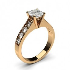 Asscher Rose Gold Engagement Rings