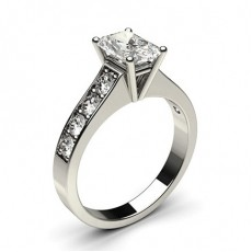Radiant White Gold Diamond Rings