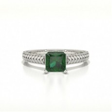 Princess Gemstone Engagement Rings