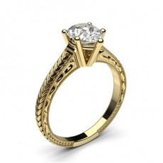 Pear Yellow Gold Vintage Engagement Rings