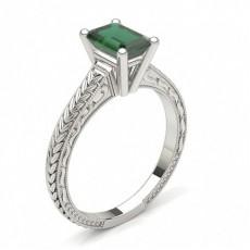 Smaragd Vintageringe Verlobungsringe