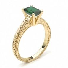 Smaragd Gelbgold Vintageringe Verlobungsringe