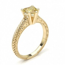 Heart Yellow Gold Vintage Engagement Rings