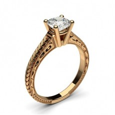 Cushion Rose Gold Vintage Diamond Engagement Rings