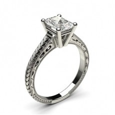 Radiant White Gold Solitaire Engagement Rings