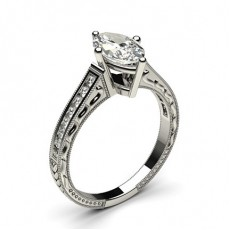 Marquise White Gold Vintage Diamond Engagement Rings