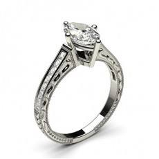 Marquise Platinum Diamond Rings