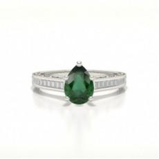 Pear Emerald Rings