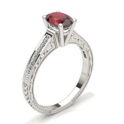 Oval Vintage Ruby Engagement Ring